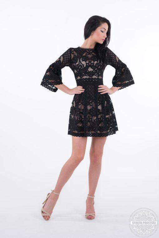 Sukienka Meggie czarna, sukienka koronkowa, sukienka na wesele, sukienka na bal, sukienka koronkowa, sukienka elegancka, sukienka od LuLu, sukienka polskiego projektanta, limitowana edycja