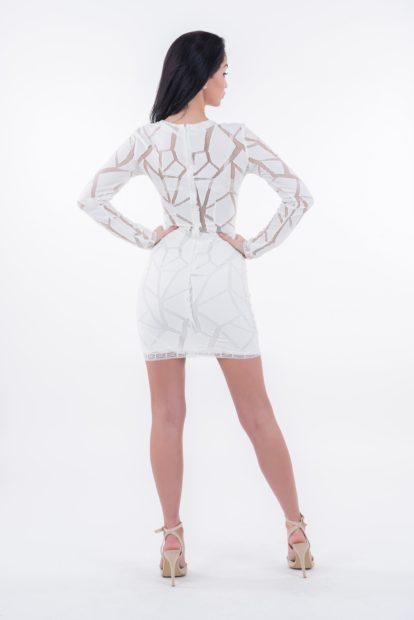 Sukienka Megan czarna, sukienka koronkowa czarna, sukienka z dekoltem, sukienka z długim rękawem, sukienka od polskiego projektanta, sukienka od lulu by Adriana Okoń