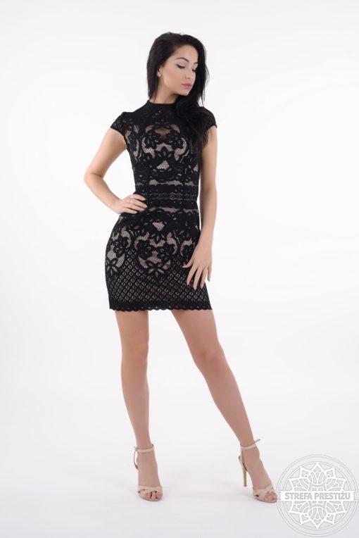 sukienka frances czarna, sukienka koronkowa, sukienka lulu by adriana okoń, sexi sukienka, mała czarna, sukienka VIP, sukienka limitowana wersja