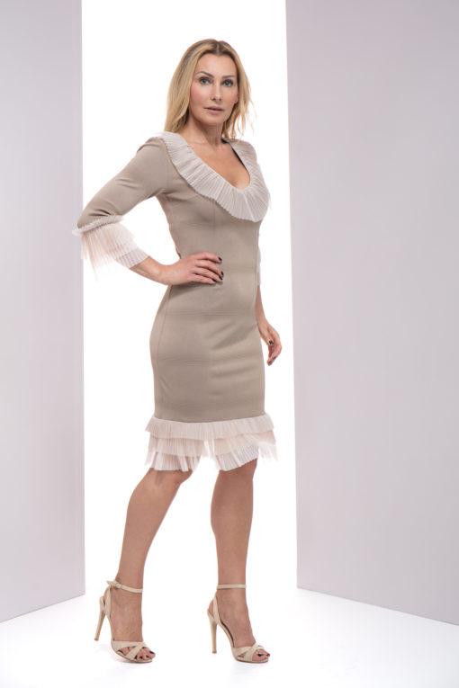 Dominique , sukienka lulu, sukienka lulu by adriana okoń, sukienka VIP, sukienka exclusive, sukienka polskich projektantów, sukienka na wesele, sukienka na komunię