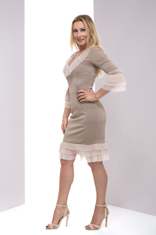Sukienka Dominique , sukienka lulu, sukienka lulu by adriana okoń, sukienka VIP, sukienka exclusive, sukienka polskich projektantów, sukienka na wesele, sukienka na komunię