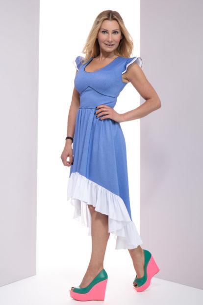 Sukienka Talisa, sukienka lulu, sukienka maxi, sukienka balowa, sukienka na wesele, sukienka na randkę, sukienka z falbaną, sukienka zapinana na zamek, sukienka taliowana