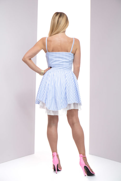 sukienka nadia, sukienka princeska, sukienka biało - niebieska, sukienka niebieska, sukienka na ramiączkach, sukienka lulu, sukienka lulu by adriana okoń, sukienka exclusive