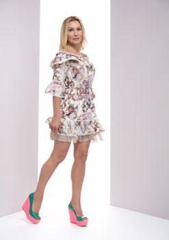 Sukienka LoLa beżowo - różowa, sukienka LoLa LuLu, Sukienka LuLu, Sukienka letnia, sukienka na lato, sukienka na randkę