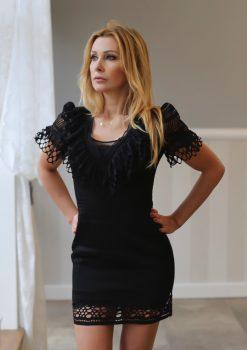 Sukienka mała czarna, Sukienka Little Black, sukienka koronkowa, sukienka przed kolano, sukienka jedyna w swoim rodzaju, sukienka od polskiego projektanta, sukienka uszyta w Polsce
