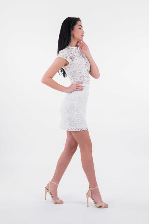 Sukienka Frances, Sukienka LuLu, Sukienka LuLu by Adriana Okoń, sukienka koronkowa, sukienka polskiego projektanta, sukienka VIP, sukienka ecru, sukienka biała, sukienka ołówkowa, sukienka czarna, mała czarna, mała biała