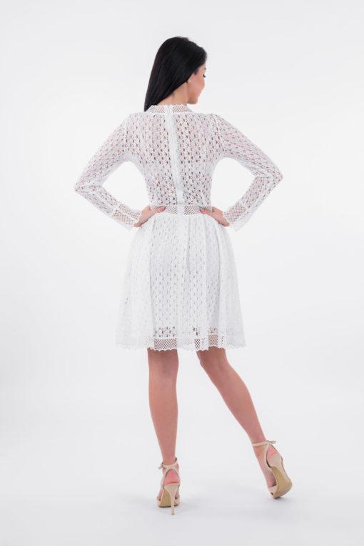 Sukienka Sally, sukienka lulu, sukienka koronkowa, sukienka biała, sukienka balowa, sukienka w dekolt,